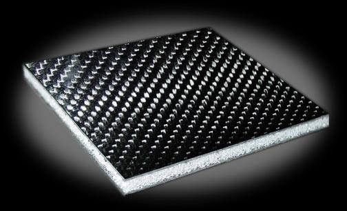 Carbon Fiber Composite Panels : Double in sandwich foam carbon fiber sheet